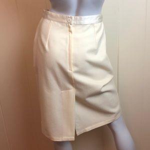 Vintage Skirts - Vintage 70s/80s Ivory Pencil Skirt